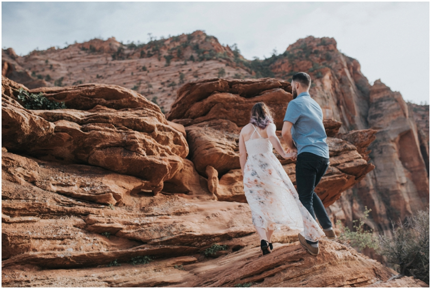 004Amy Cloud Photographer Zion National Park Engagment Session Epic Wedding Photography