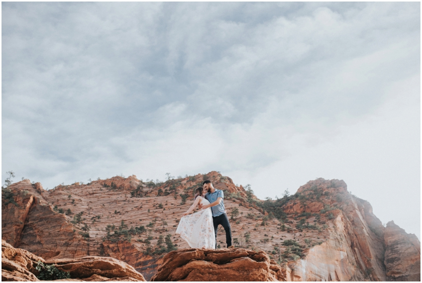 006Amy Cloud Photographer Zion National Park Engagment Session Epic Wedding Photography