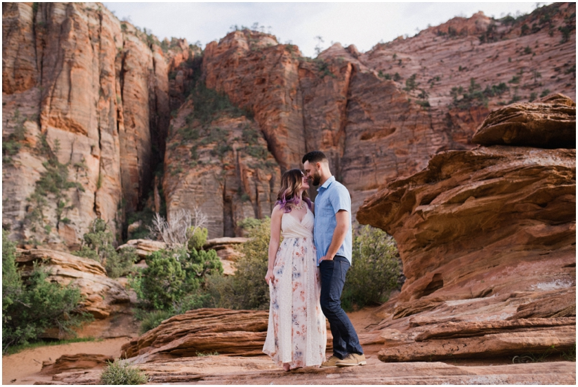 007Amy Cloud Photographer Zion National Park Engagment Session Epic Wedding Photography