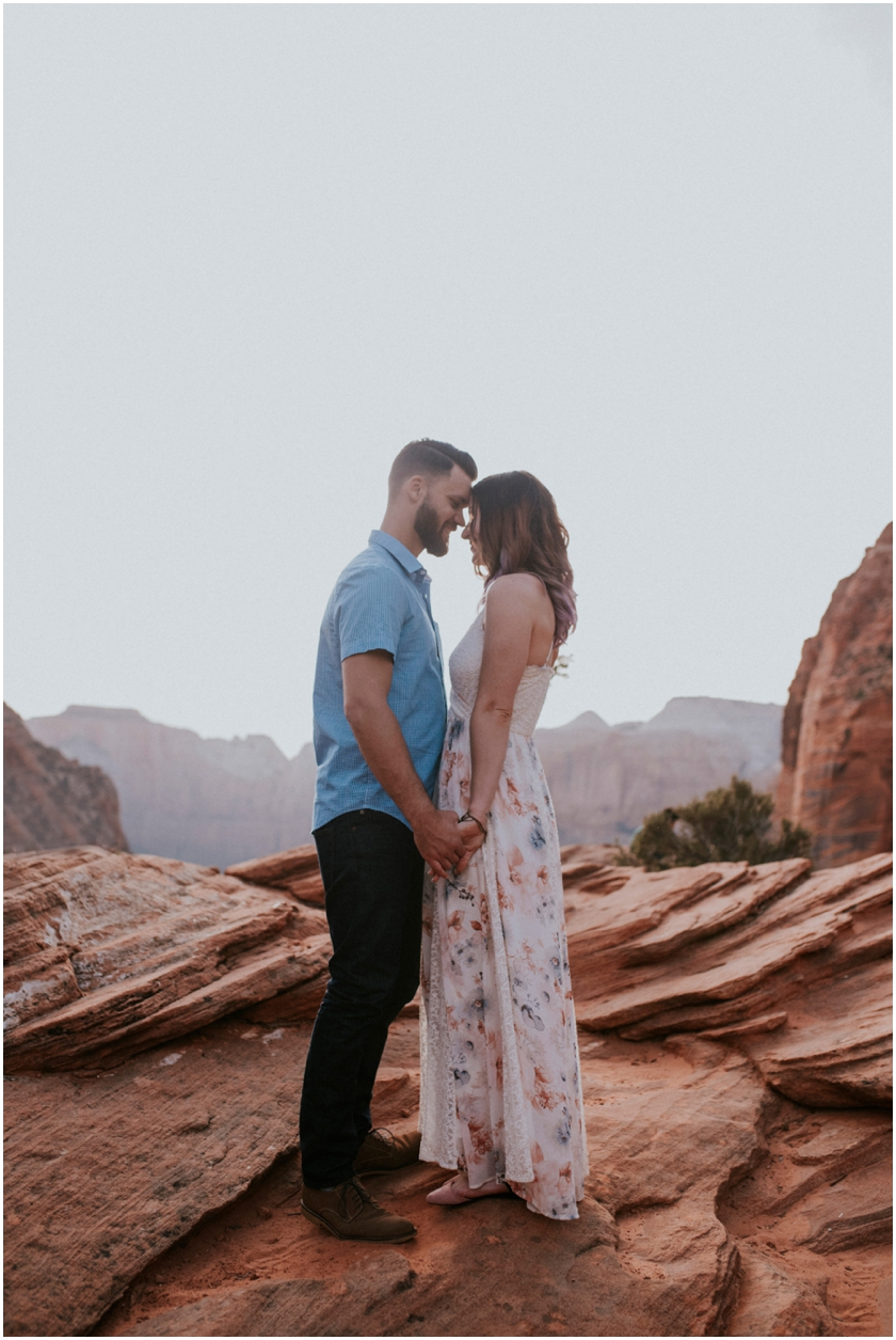 009Amy Cloud Photographer Zion National Park Engagment Session Epic Wedding Photography