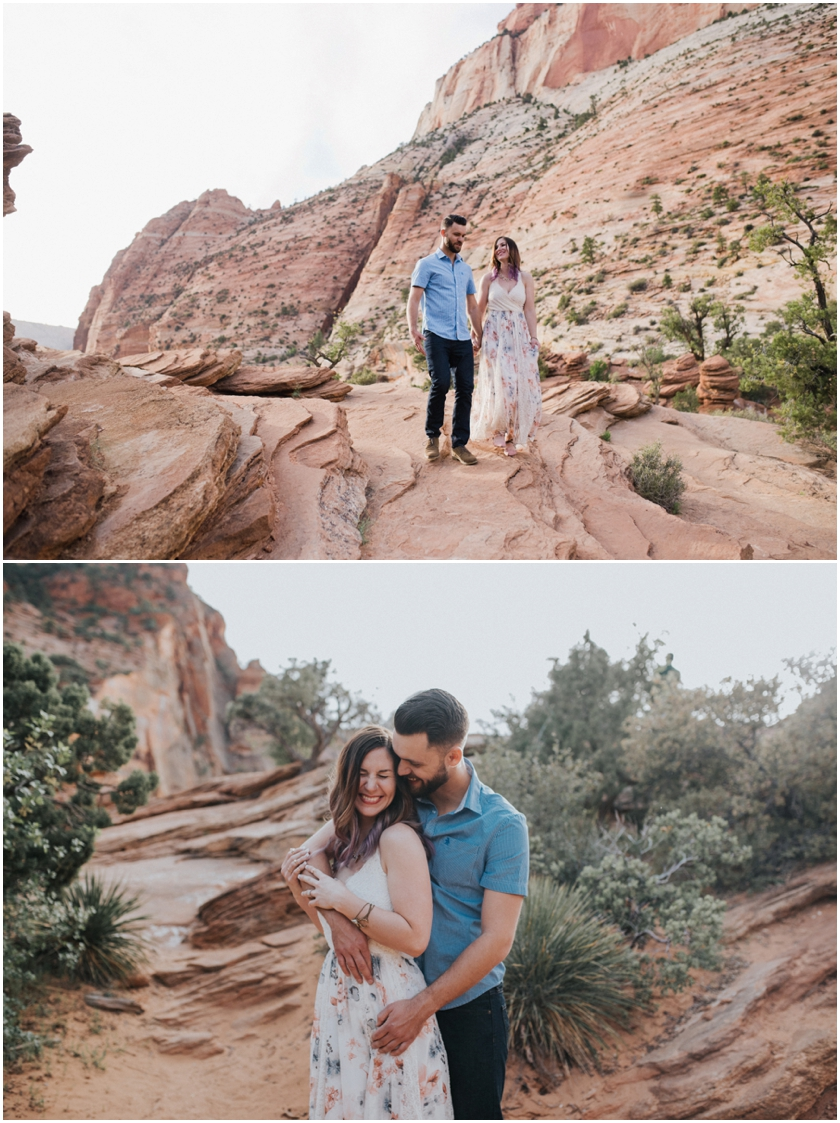011Amy Cloud Photographer Zion National Park Engagment Session Epic Wedding Photography