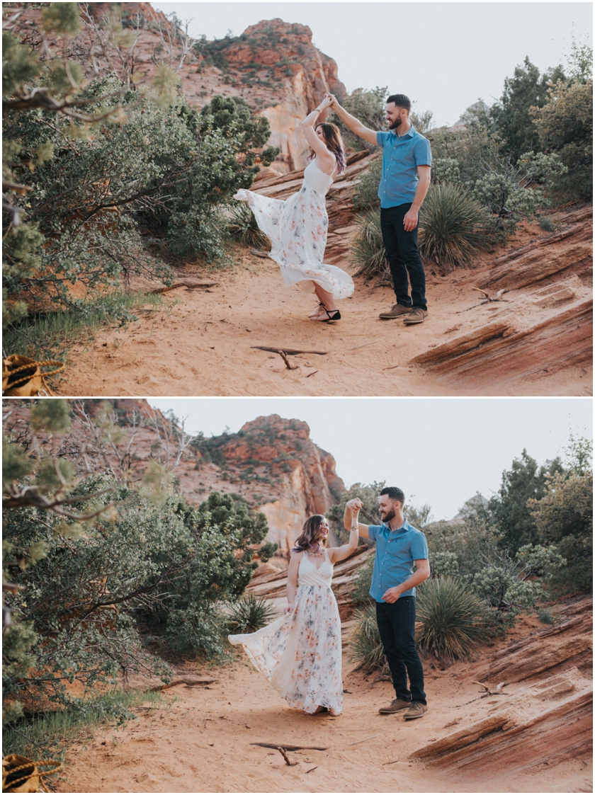 015Amy Cloud Photographer Zion National Park Engagment Session Epic Wedding Photography
